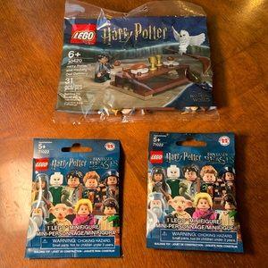 Lego sealed poly bag and 2 mini figures